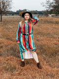Ranch Hand Serape Button Up Duster