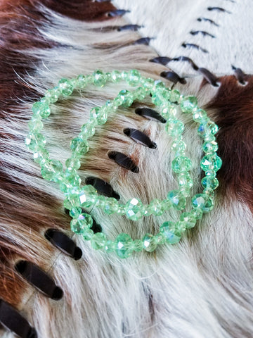 Pastel Green Stretch Bracelet