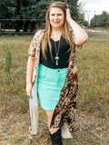 The Law Maker Skirt - Turquoise