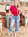 Fringe In Low Places Top - Red