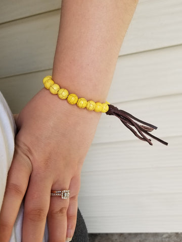 Fringed Out Beauty Bracelet - Mustard