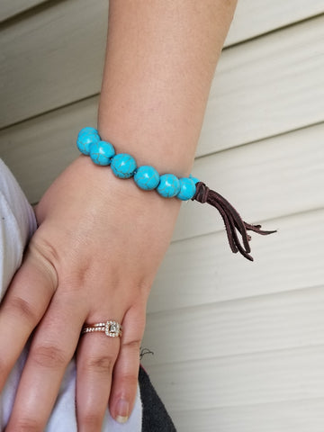 Fringed Out Beauty Bracelet - Turquoise