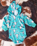 Bull Calf  Hooded Onesie