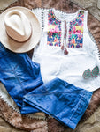 Boho Vibes Embroidered Tank