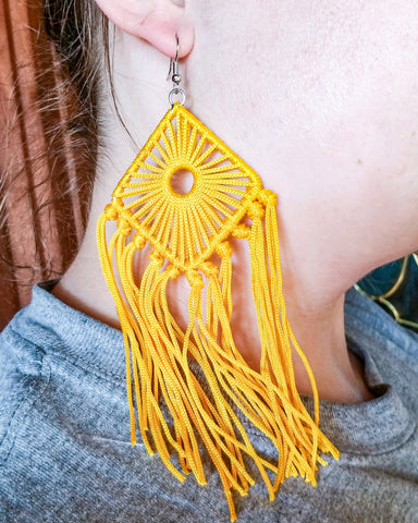Day Dreamer Earrings - Mustard