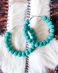 Rock With Me Hoops - Turquoise