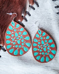 Whiskey Flats Leather Earrings