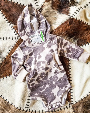Cow Kiddo Hooded Onesie