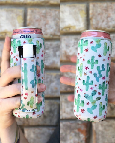 Pretty Cacti Slim Can Cooler