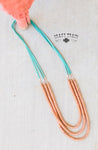 Cattle Guard Necklace - Copper and Turquoise