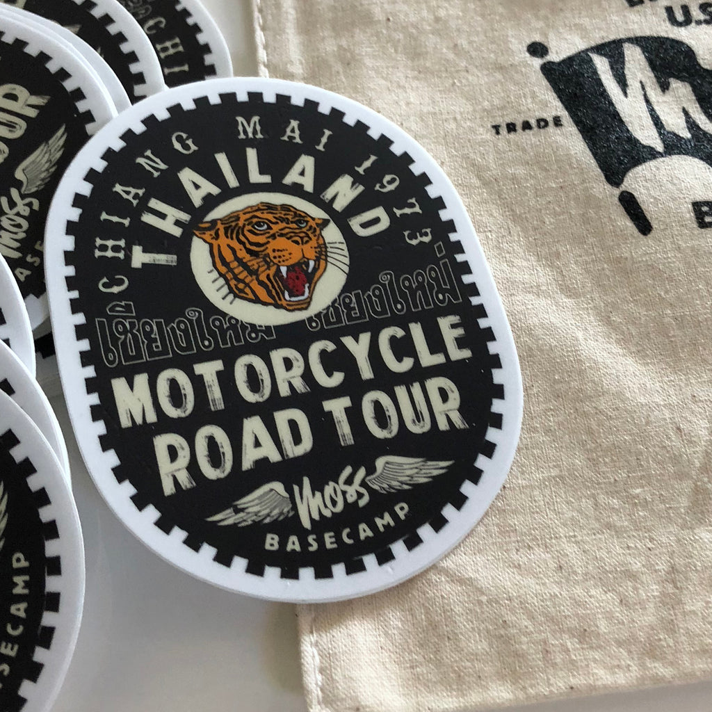 Chiang Mai Thailand Motorcycle Road Tour Sticker