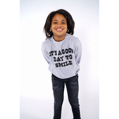 Heather Smile Grey Crewneck
