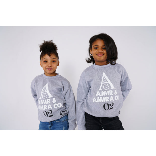 Girls Sibling Grey Sweatshirt