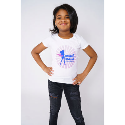 Girls SuperGirl White T-shirt - Amir & Amira