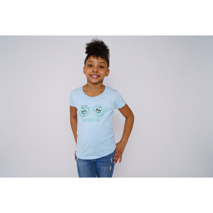 Girls Siblings Powder Blue T-shirt - Amir & Amira