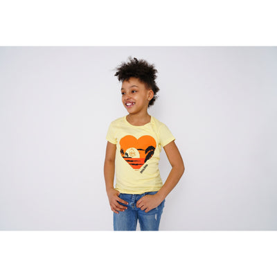 Girls Sunset Yellow T-shirt