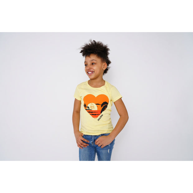 Girls Sunset Yellow T-shirt - Amir & Amira