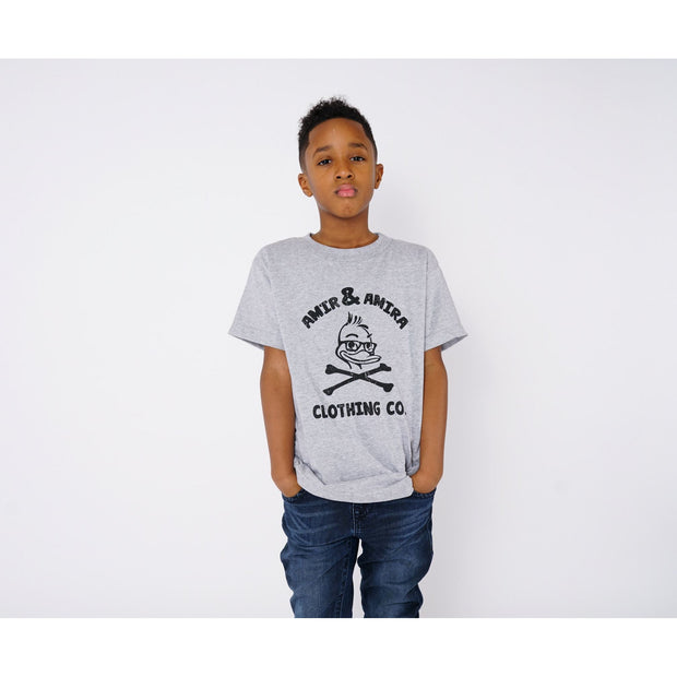 Boys Sports Grey Crossbones T-Shirt