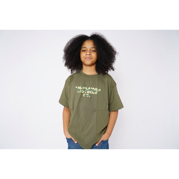 Boys Camo Green T-Shirt