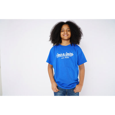 Boys Signature Blue T-Shirt - Amir & Amira