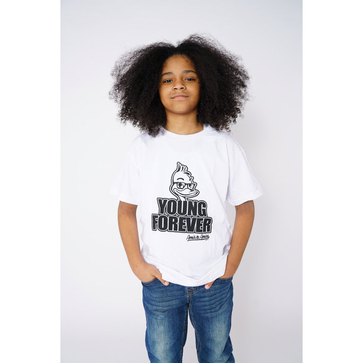 Boys Young Forever White T-Shirt - Amir & Amira