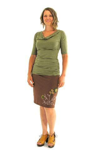 Fitted Comfy Skirt :: Knee Length :: Print