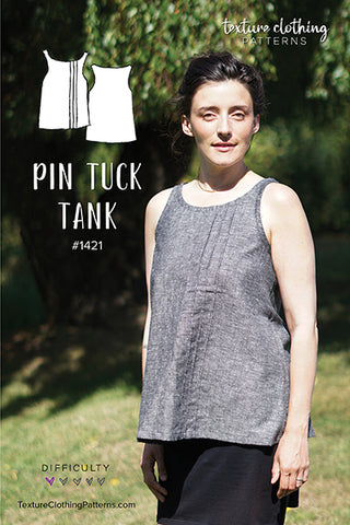 Pin Tuck Tank Sewing Pattern