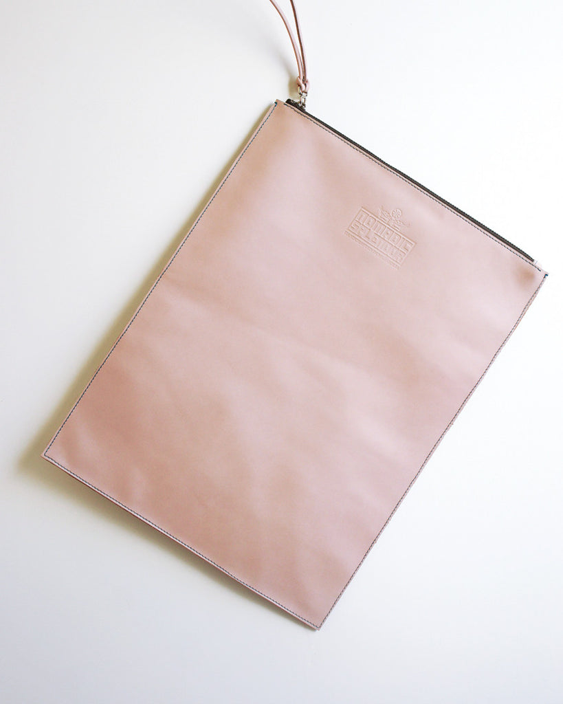 Altai Foldover Clutch in Pastel Pink