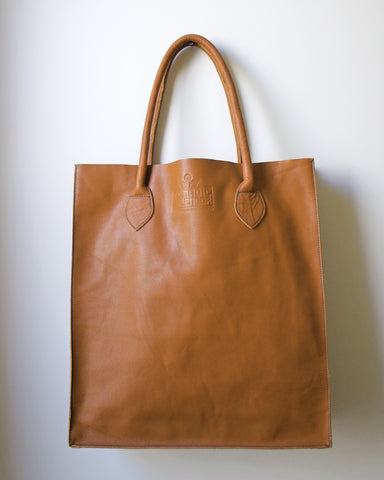 Gobi Shopper Tote Bag in Caramel