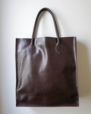 Gobi Shopper Tote Bag in Chocolate Brown