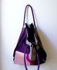 Limited-Edition Gobi Shopper Tote Bag Fuchsia/Grey