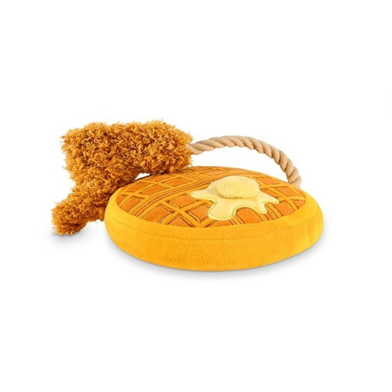 P.L.A.Y Chicken & Woofles dog toy