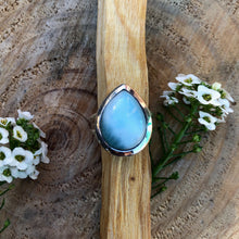 Load image into Gallery viewer, Larimar 925 Sterling Silver Ring.