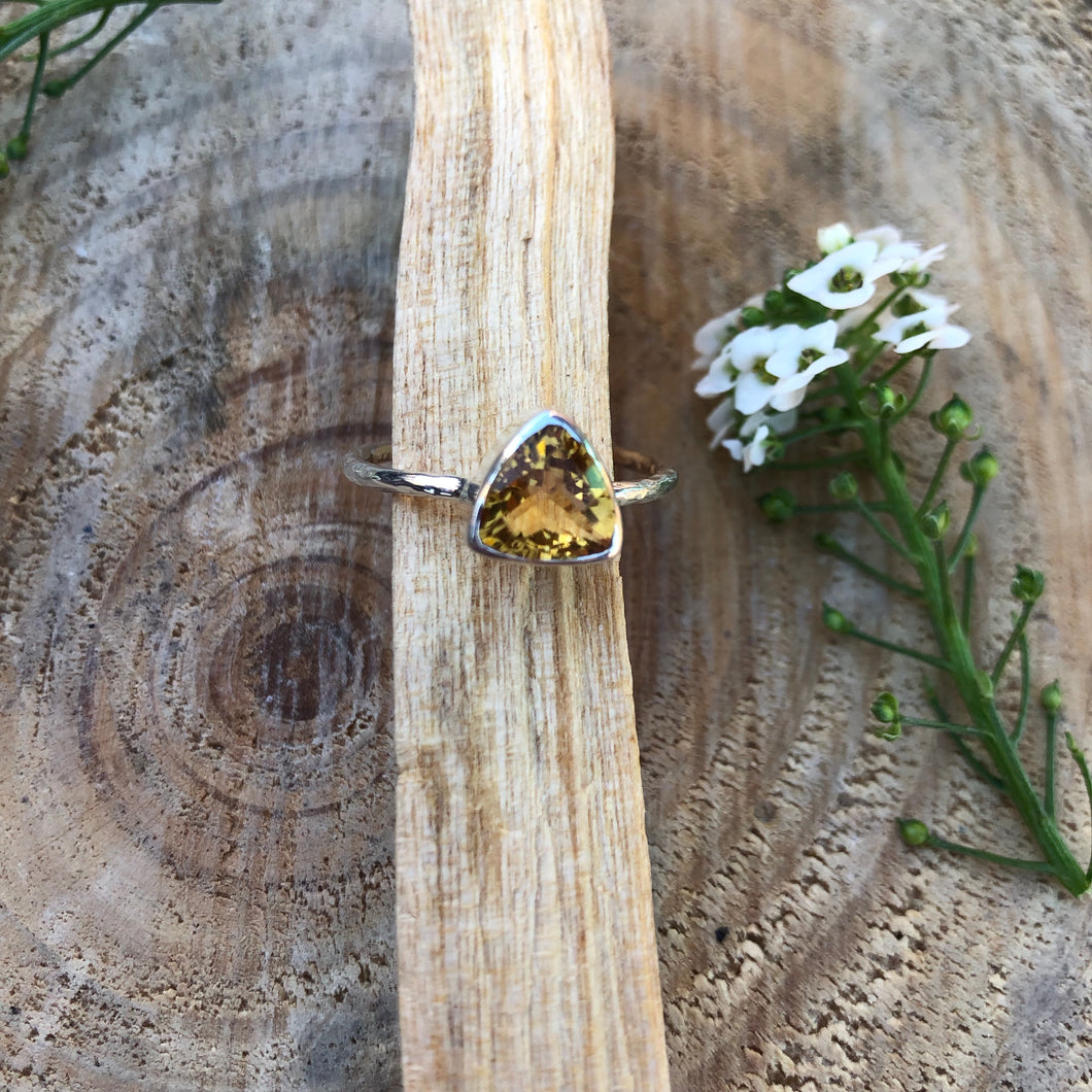 Citrine 925 Sterling Silver Ring