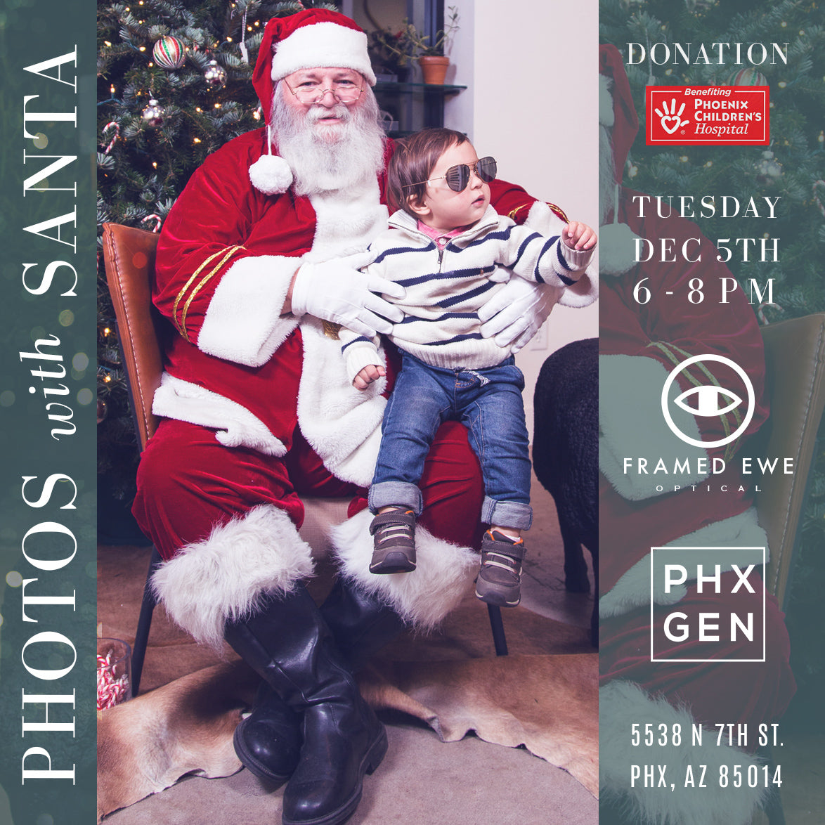 HO HO HO! Photos with Santa at Framed Ewe and Phoenix General