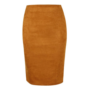 Fashionable Suede Skirt