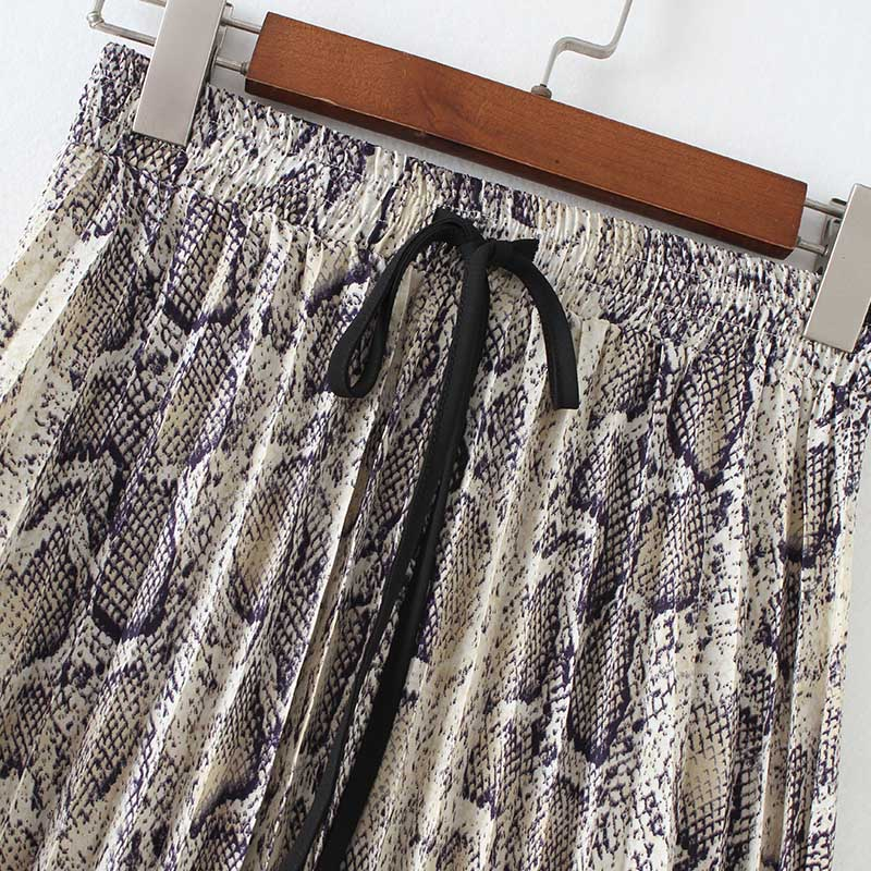 Stylish Snake Print Skirt