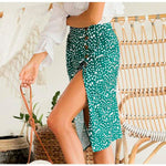 Green Split Skirt