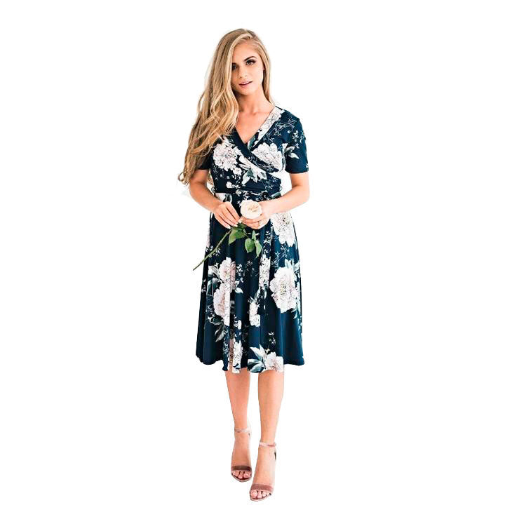 Casual  Dress with floral print
