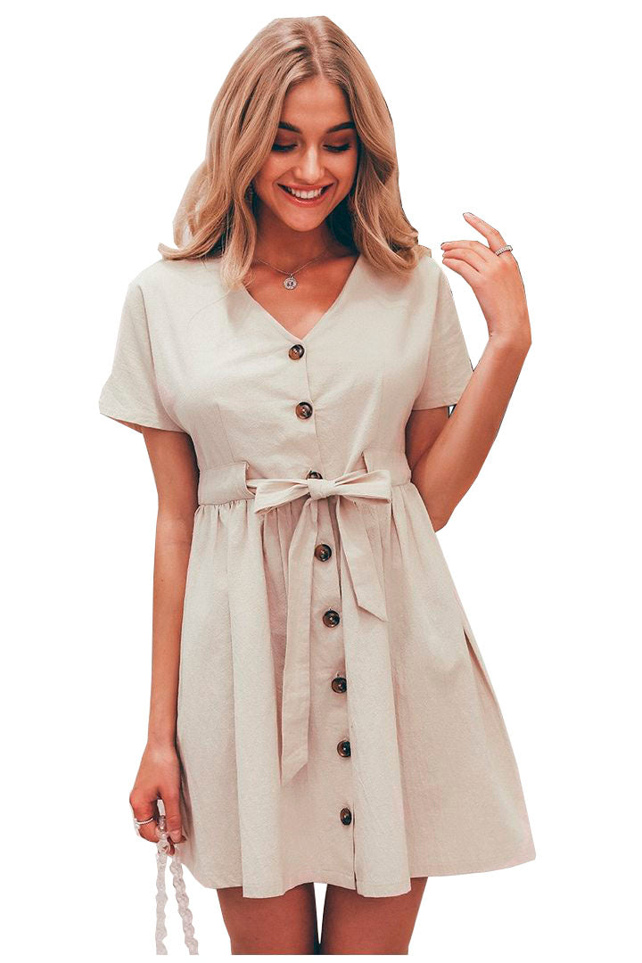 Short Cotton Casual dress