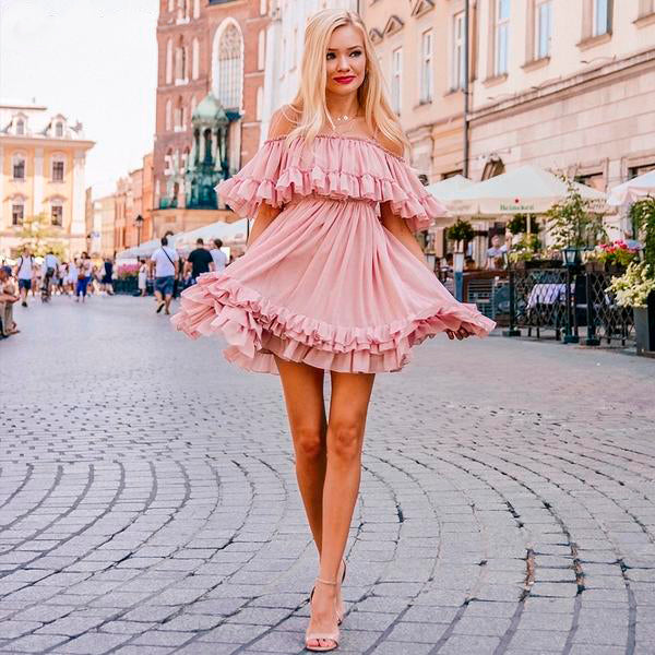 Chiffon Elegant Mini Dress