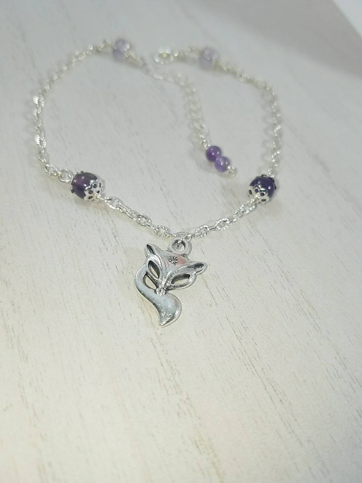 Sterling Silver Vixen Hotwife Anklet Initial Jewelry