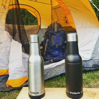 DraftBottle Stainless Steel Insulated Bottle for camping, hiking it the RV!