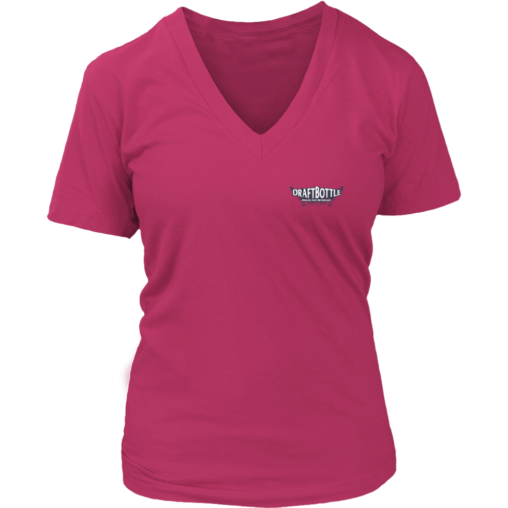 DraftBottle New Retro Logo District Womens V-Neck