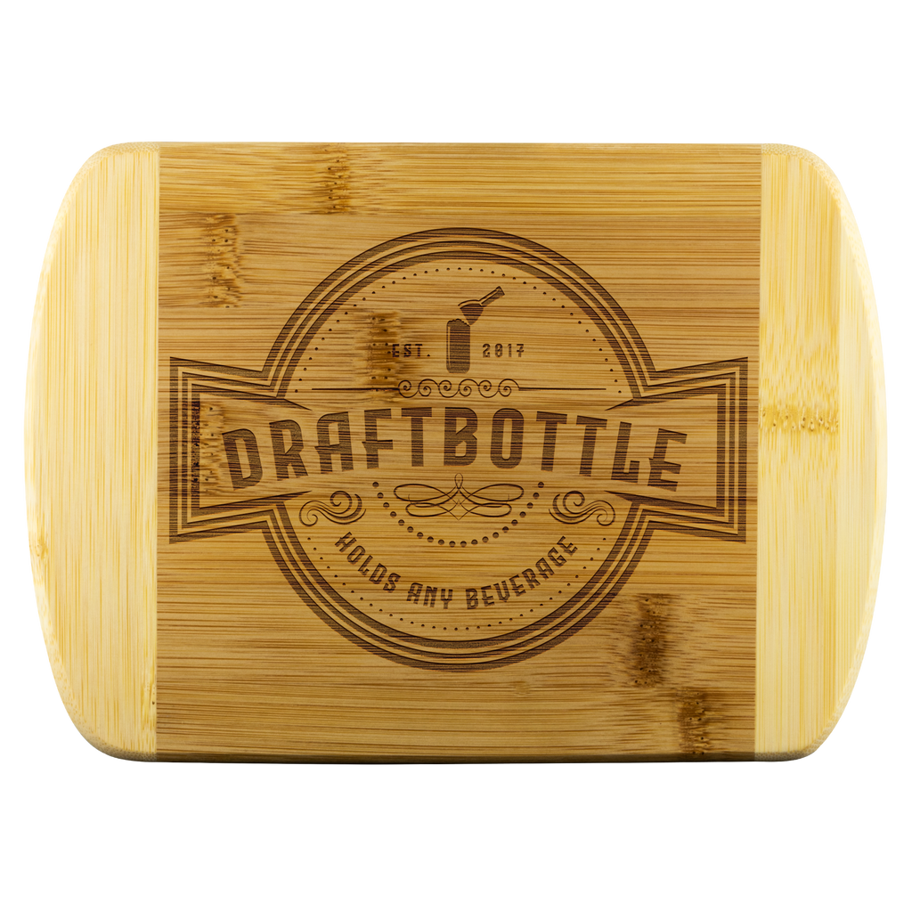 DraftBottle Round Edge Bamboo Wood Cutting Board