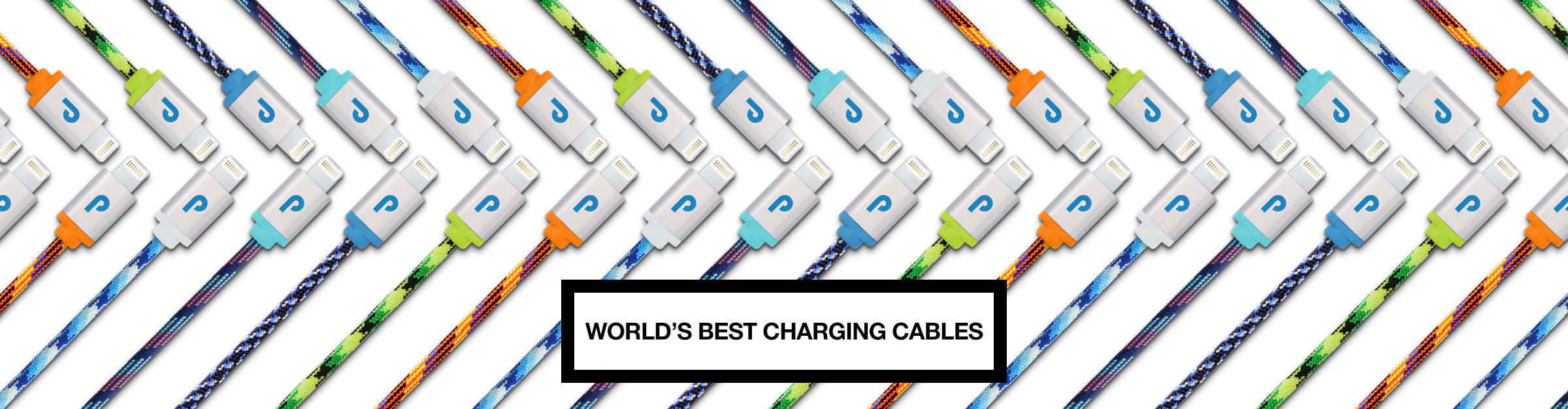 Premium fabric wrapped apple certified lightning cables and micro usb cables.