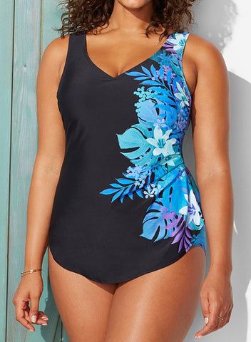 b07214381c27 QUINN SARONG FRONT ONE PIECE SWIMSUIT – Oscloth