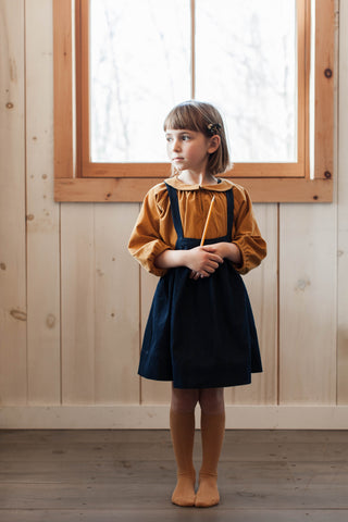 Soor Ploom Agatha Tunic and Eloise Pinafore in Denim
