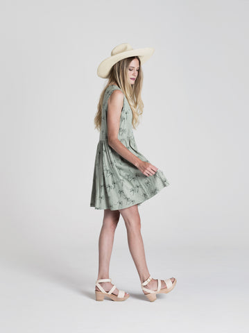 Rylee & Cru Womens Palm Tree Dress