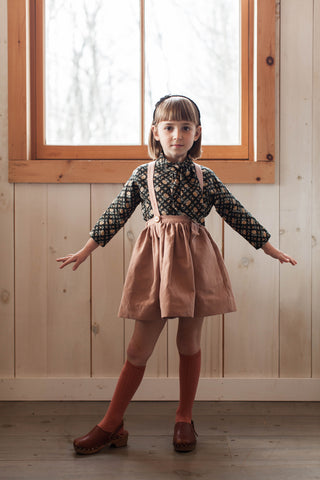 Soor Ploom Mavis Skirt in Pez Canvas and Top in Botanical Print